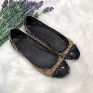 COACH | Chelsea Ballet Flats Shoes Monogram Tan